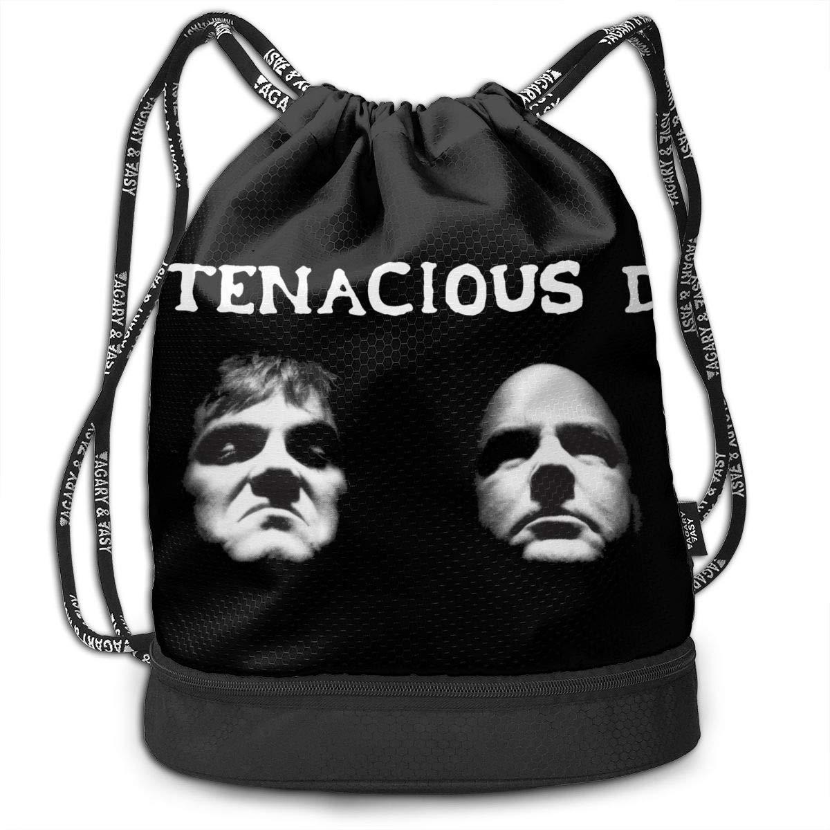 AgoodShop Tenacious D Drawstring Backpack Sport Gym Travel Bag