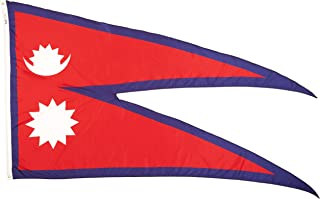 product image for Annin Flagmakers Model 195925 Nepal Flag Nylon SolarGuard NYL-Glo, 5x8 ft, 100% Made in USA to Official United Nations Design Specifications