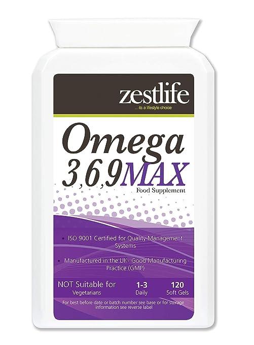 Omega 3,6,9 1000mg - 120 Cápsulas ácidos grasos EPA y DHA y vital para la piel,