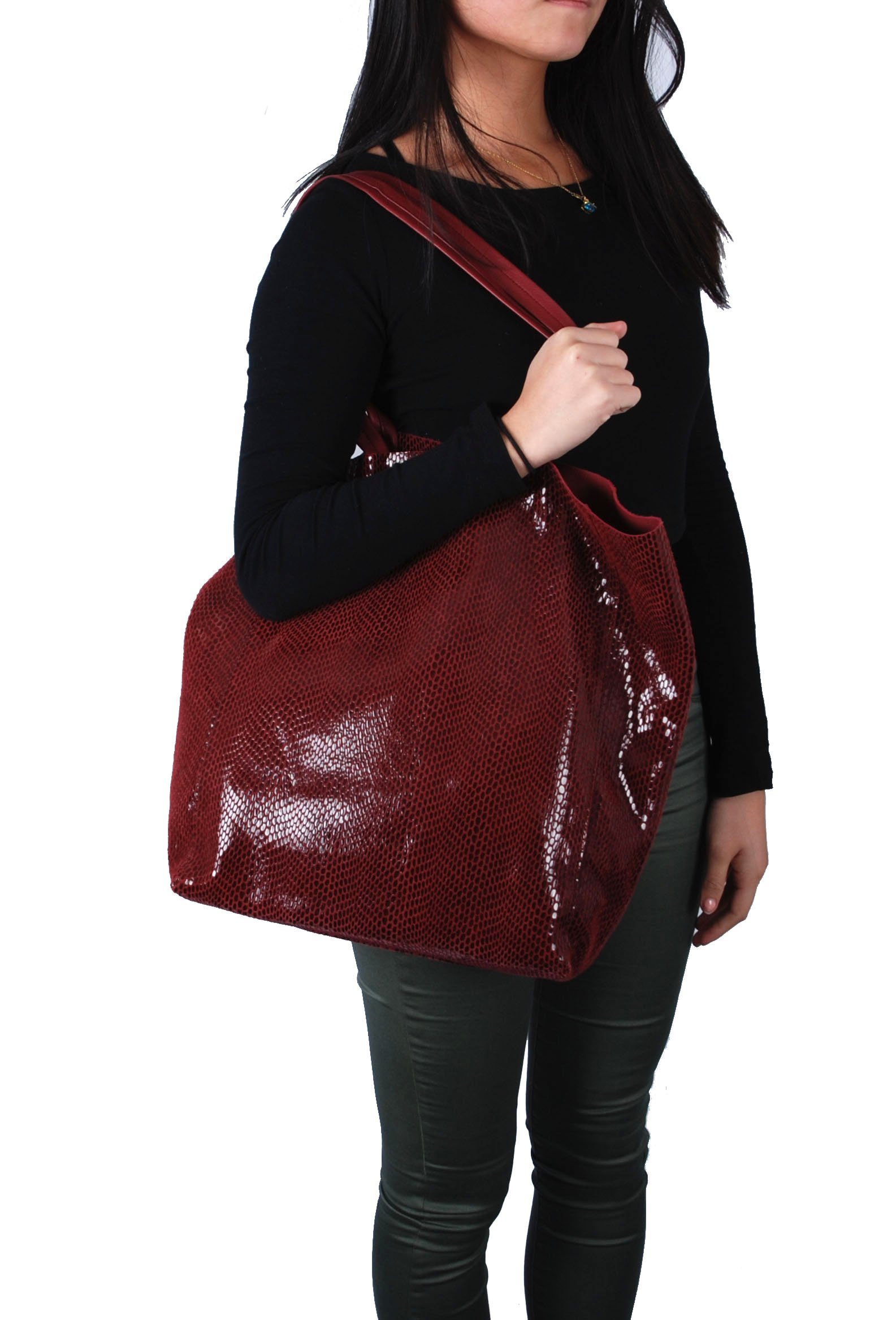Sorial Rubina Tote, Oxblood,One size by Sorial (Image #2)