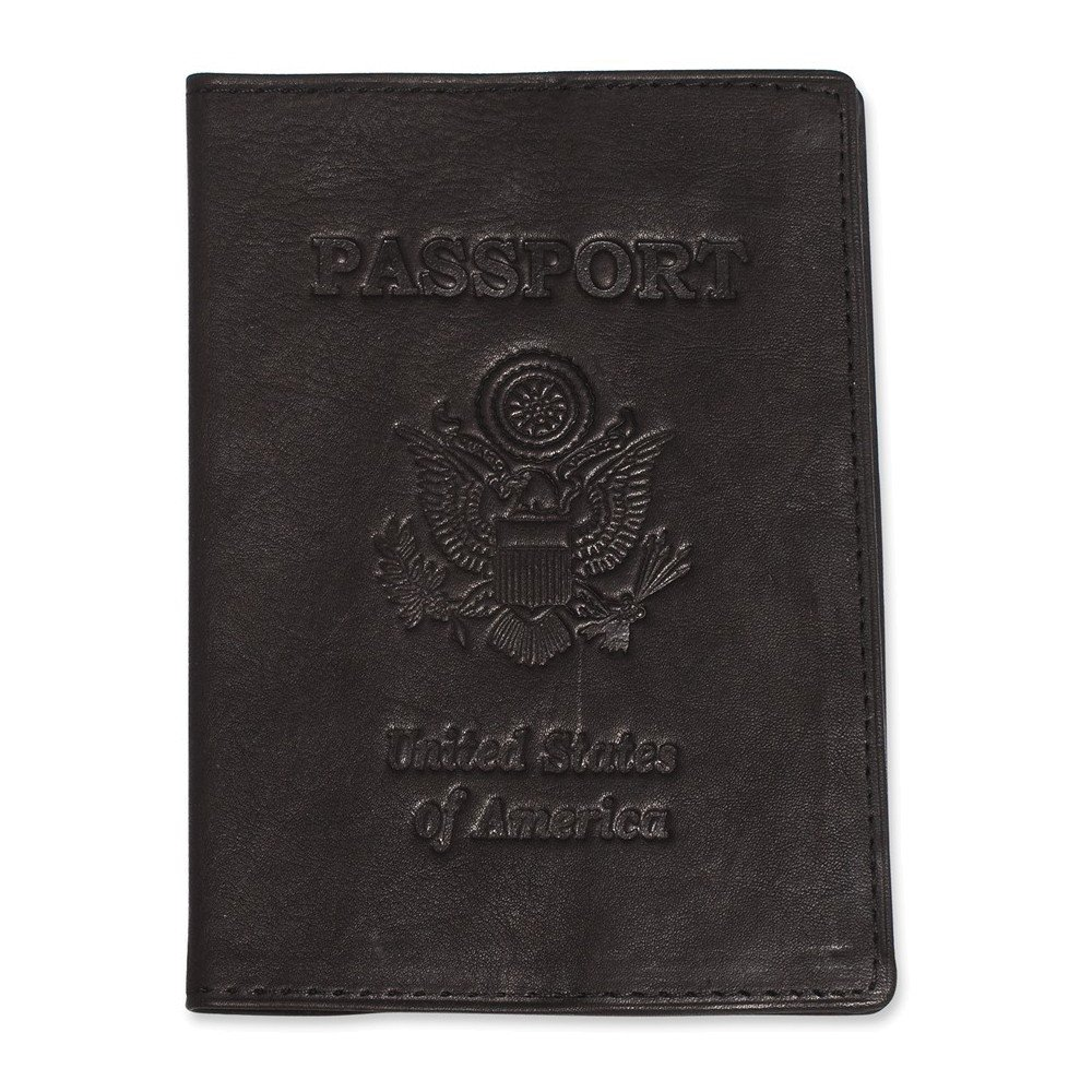 Jewelry Adviser Gifts Black Leather Passport Cover