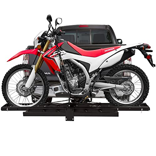 Black Widow AMC-400 Hitch-Mounted Aluminum Motorcycle Carrier