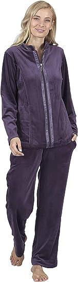 Jogginganzug Jacke /& Hose Trainingsanzug Freizeit Homewear NEU Größe 36 38 lila