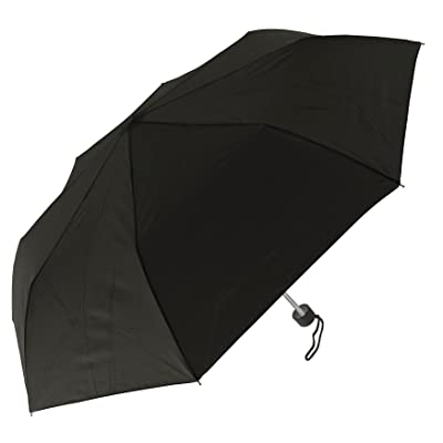 """RainStoppers W021 Super Mini Arc Umbrella with Bow on The Sleeve, Black, 41"""""""