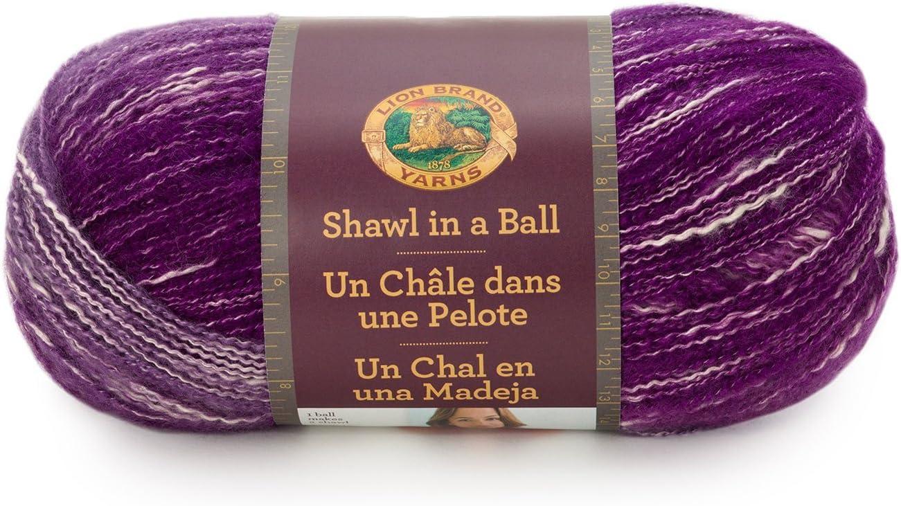 Lion Brand Yarn 828-203 Shawl in a Ball Yarn, One Size, Mindful Mauve