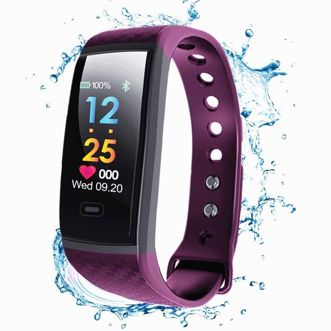 XHZNDZ 2018 Nueva Actualización Fitness Tracker con Podómetro Heart Rate Monitor Calorías Quemado Smart Bracelet Bluetooth IP67 Pantalla a Prueba de Agua para Android y iOS iPhone Kids Men Women jiaguwen