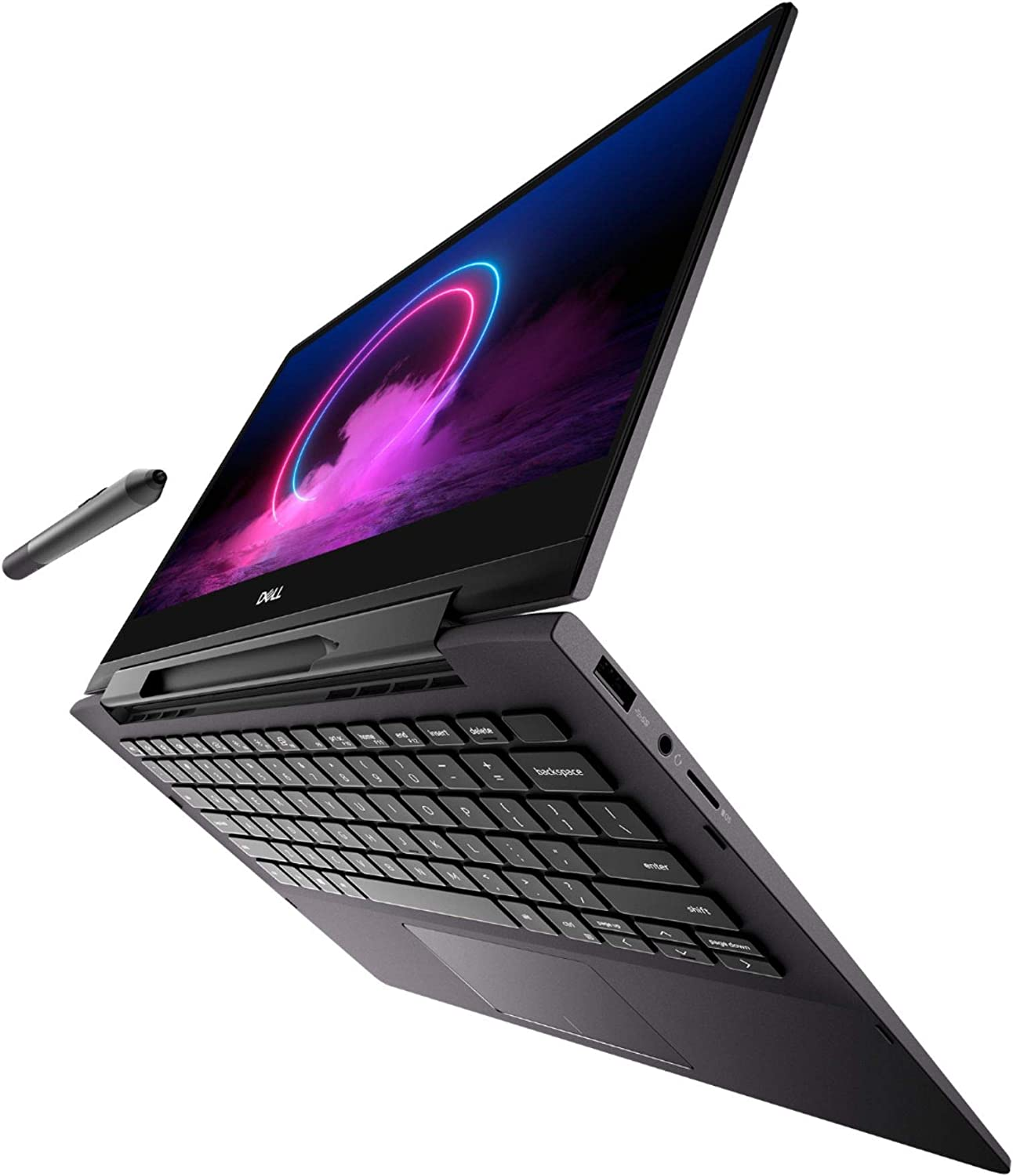 "Dell Inspiron 13 2-in-1 7391 (Late 2019 Model) 10th gen i7-10510U - 16GB - 512GB SSD 13.3"" 4K Touch Backlit Keyboard WiFi 6 AX Win 10 Home (Renewed)"