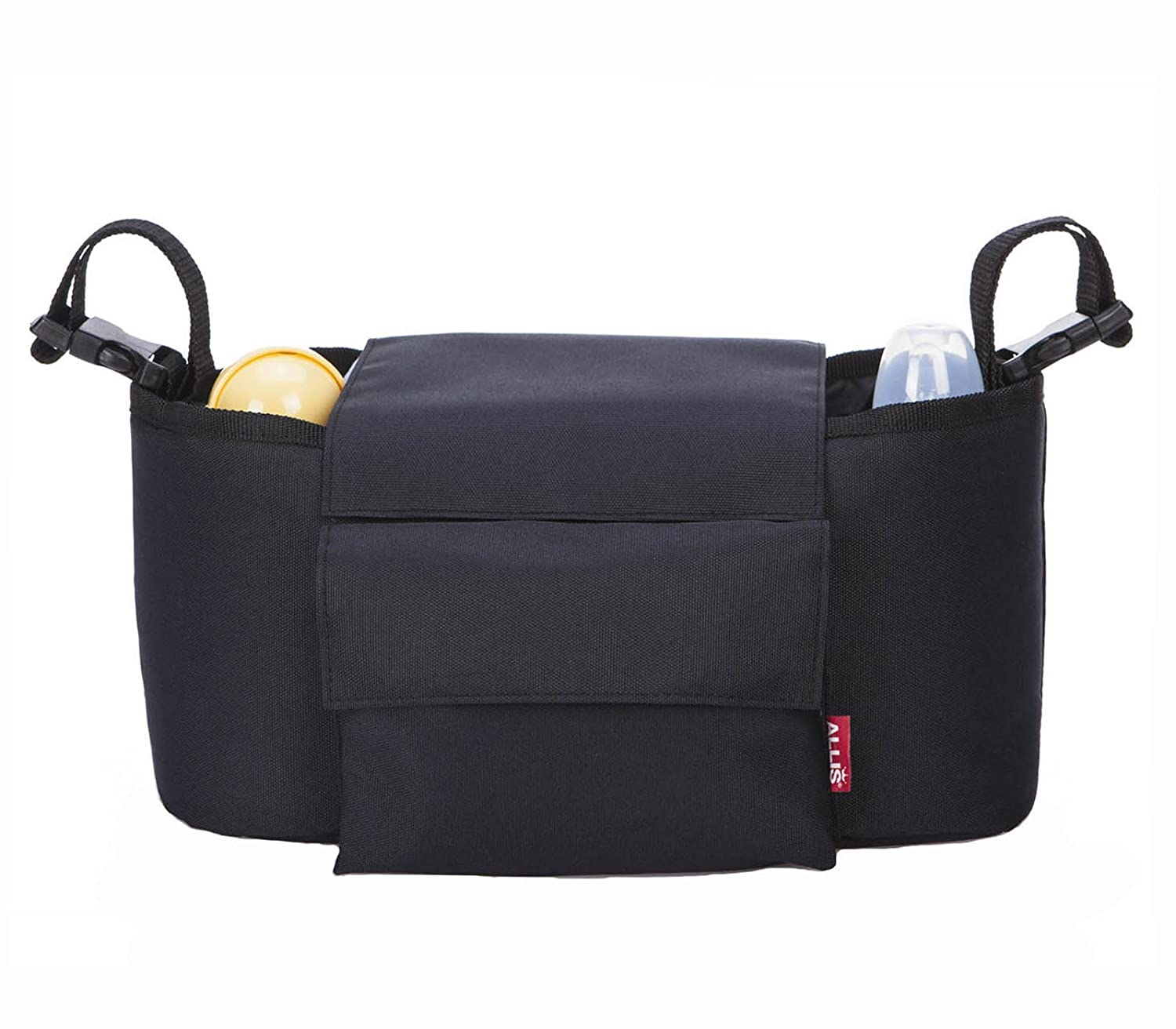 Allis 2-in-1 Buggy Organizer Baby Changing Bag (Black) CB05K