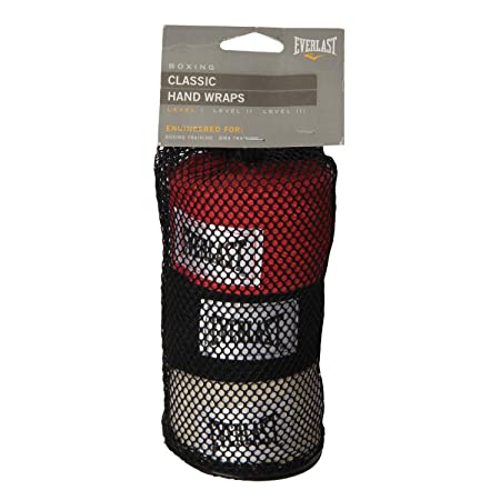 Everlast Professional Hand Wraps 120 (Pack of 2) (Black/Red/White, 120 inch)
