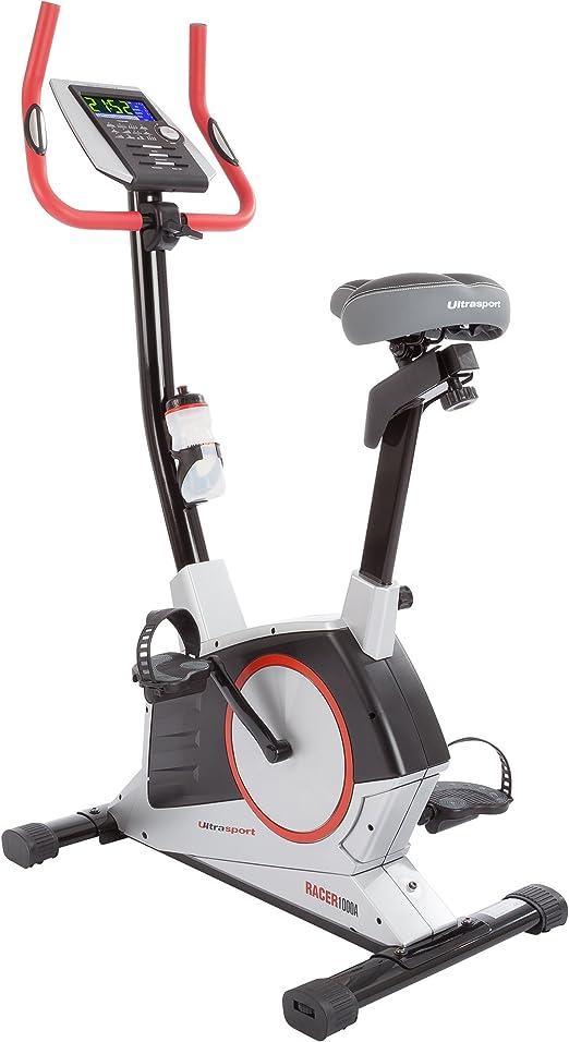 Ultrasport Bicicleta estática Racer 1000A con sensores de pulso de ...
