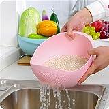 Fruit Vegetable Rice Washing Strainer Bowl Storage Basket, Assorted Colour