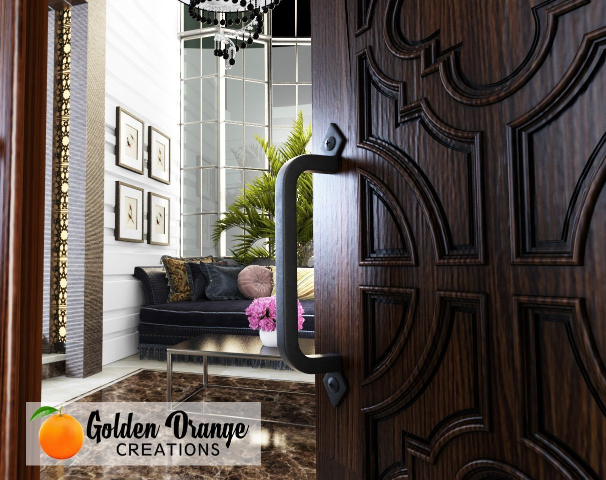 9-3/4'' Antique Barn Door Pull Handle with 2 Matching Black Screws - for Custom and Luxury Sliding Barn Doors, Pantry, Closet, Furniture, Garage, Gate, Shed - Solid Cast Iron Hardware Handle by Golden Orange Creations (Image #4)
