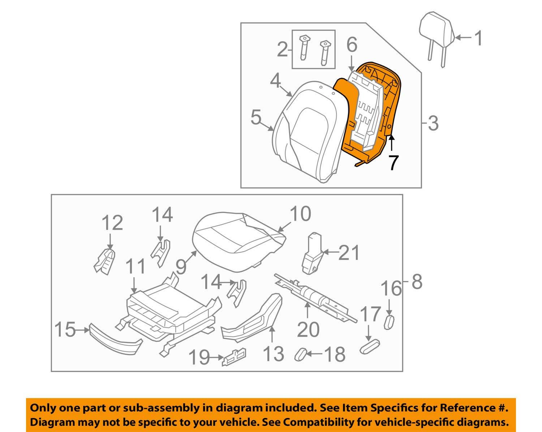 Genuine Hyundai 88393-3J400-WKH Seat Cover Assembly