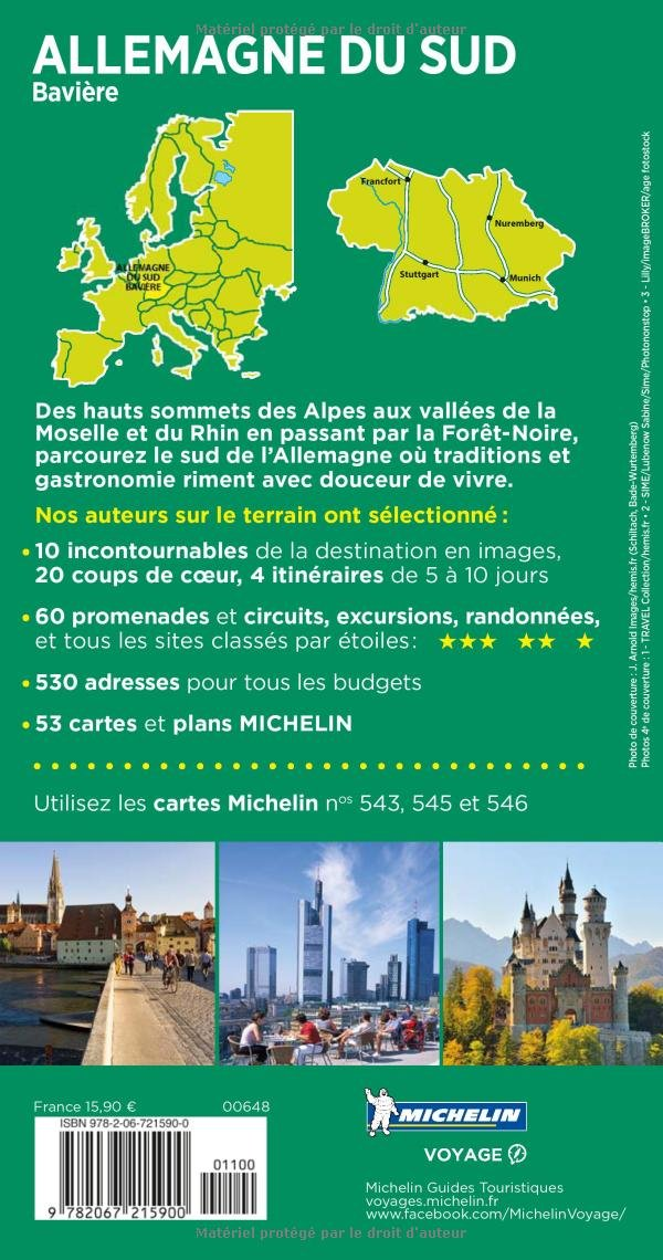 carte allemagne sud ouest michelin