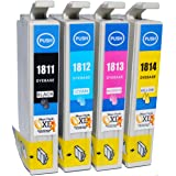 Compatible Epson Expression XP-405 Ink Cartridges 1X Black 1X Cyan 1X Magenta 1X Yellow (4-Pack)