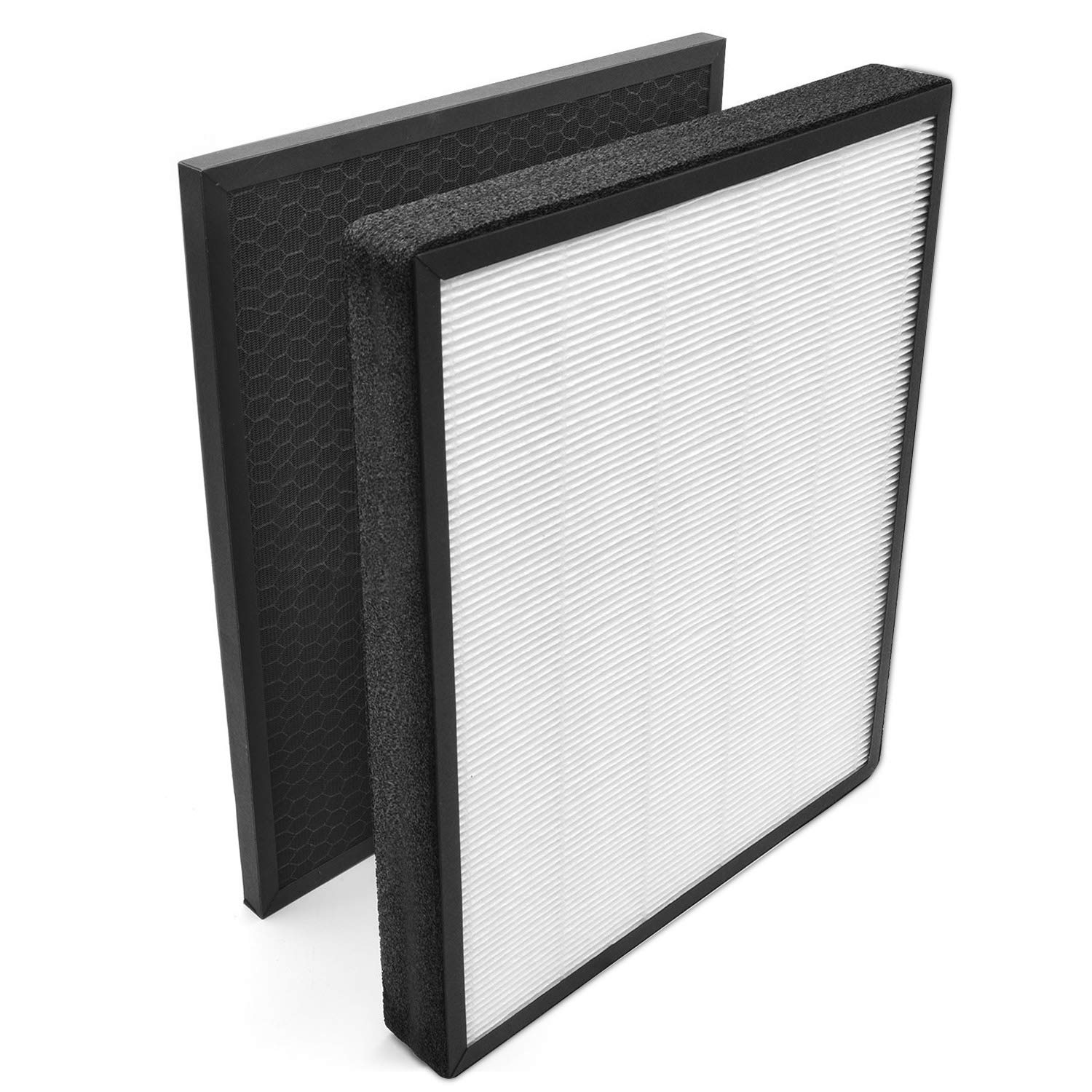 KOIOS Large Air Purifier with True HEPA Filter, Allergies Eliminator Air Cleaner for Large Rooms, Home, Dust & Pollen, Smoke and Pet Dander, 100% Ozone Free (Replacement Filter Black)