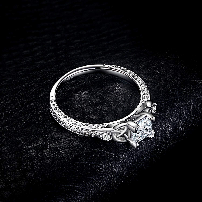 JewelryPalace Vintage Princesse Cut 1.2ct Bague de Fian/çailles Zirconium Cubique Solitaire Anneau dAlliance Femme en Argent Sterling 925 Mariage Promesse