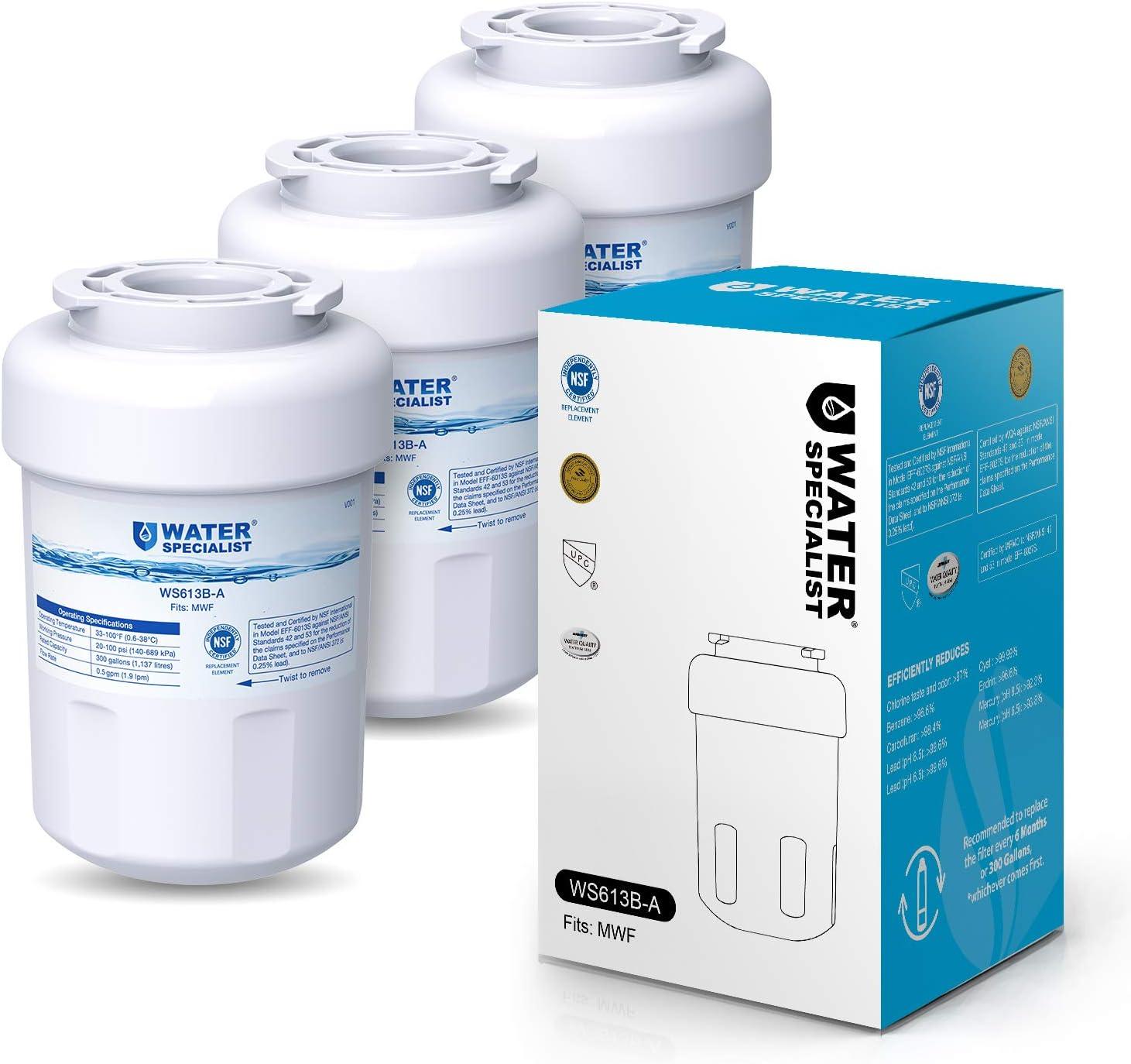 Waterspecialist NSF 53&42 Certified MWF Refrigerator Water Filter