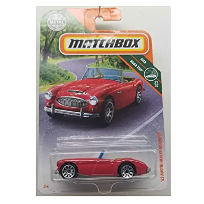 Matchbox 2020 MBX Roadtrip '63 Austin Healey Roadster 87/125, Red: Toys & Games