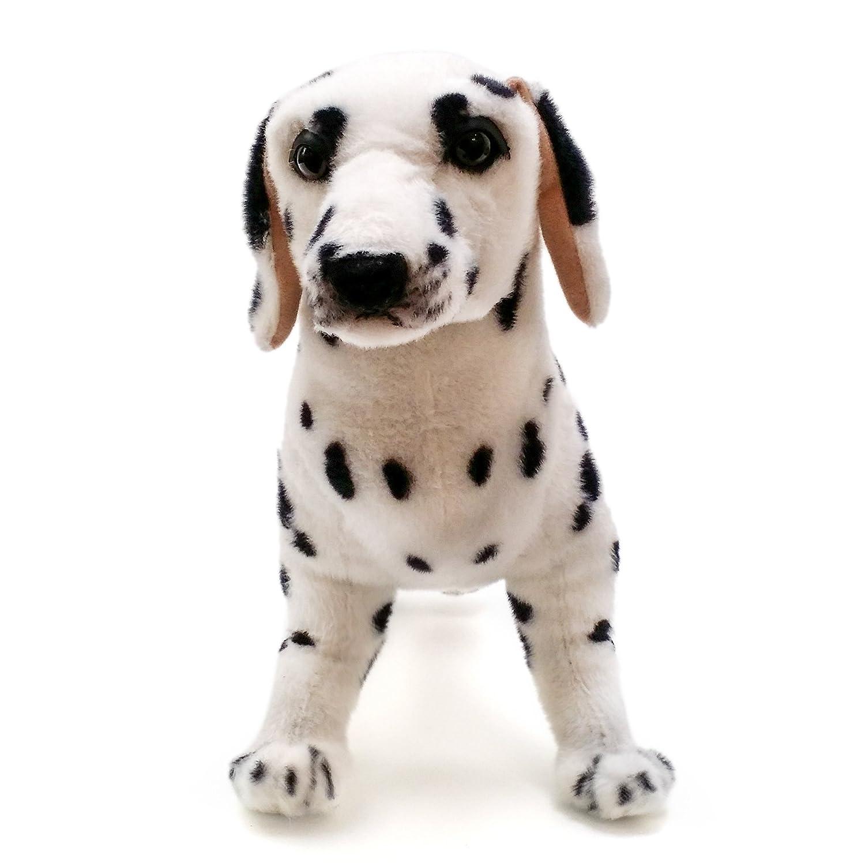 amazoncom donnie the dalmatian   inch large dalmatian dog  - amazoncom donnie the dalmatian   inch large dalmatian dog stuffedanimal plush  by tiger tale toys toys  games