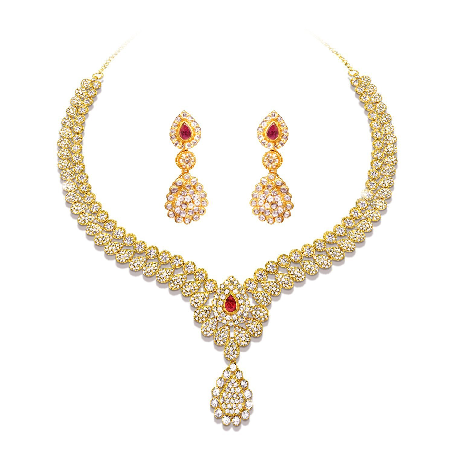 Buy joyalukkas elaganza uncut diamond collection 22k 916 yellow buy joyalukkas elaganza uncut diamond collection 22k 916 yellow gold and diamond chain necklace online at low prices in india amazon jewellery store aloadofball Image collections