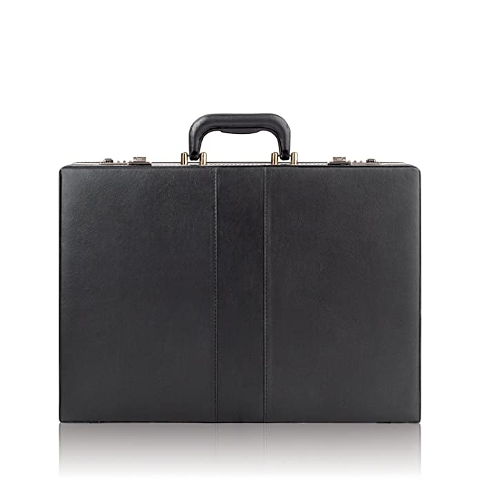 Solo Grand Central Attaché, Hard-sided with Combination Locks, Black
