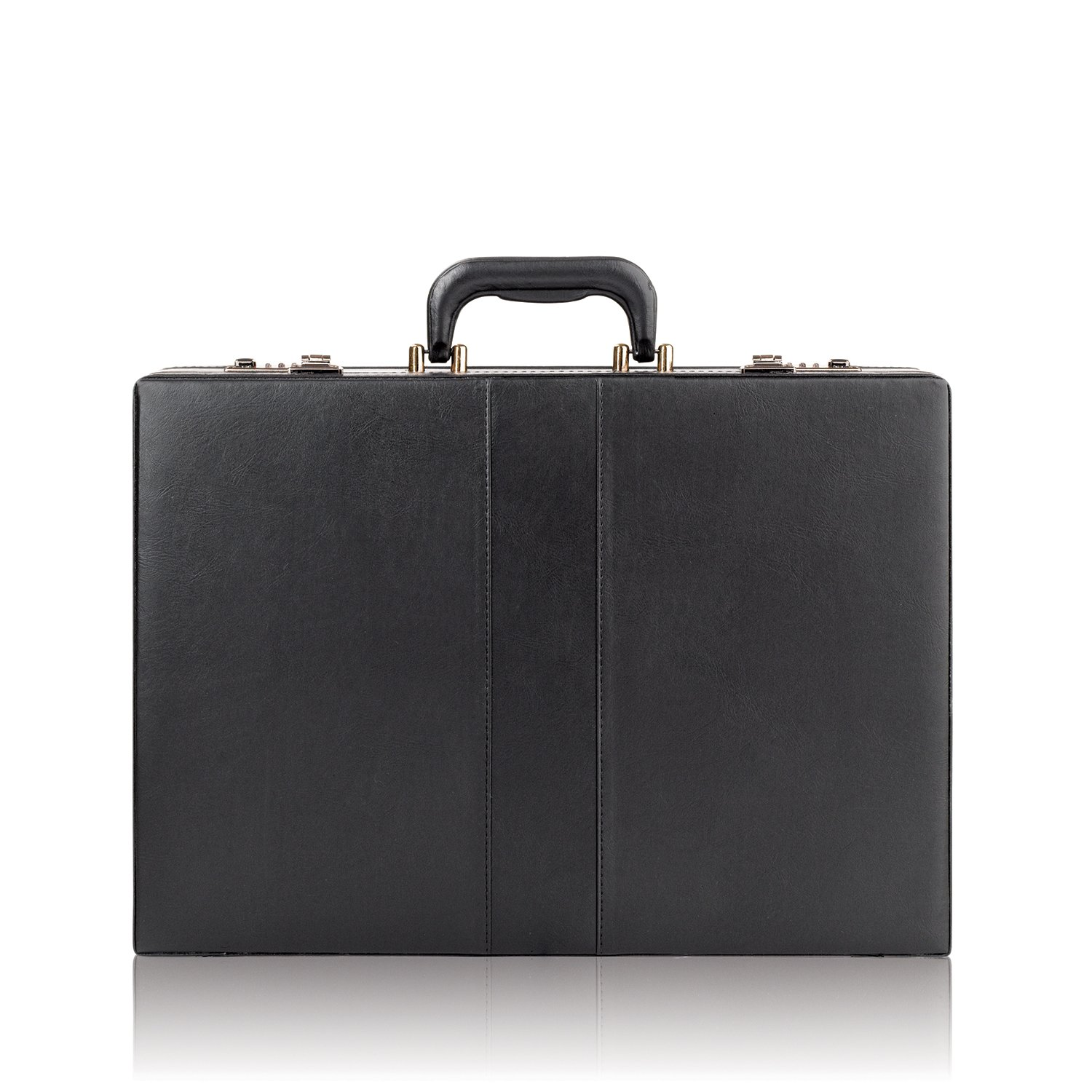 Solo Premium Leather-like Attaché, Hard-sided with Combination Locks, Black, K85 K85-4U4