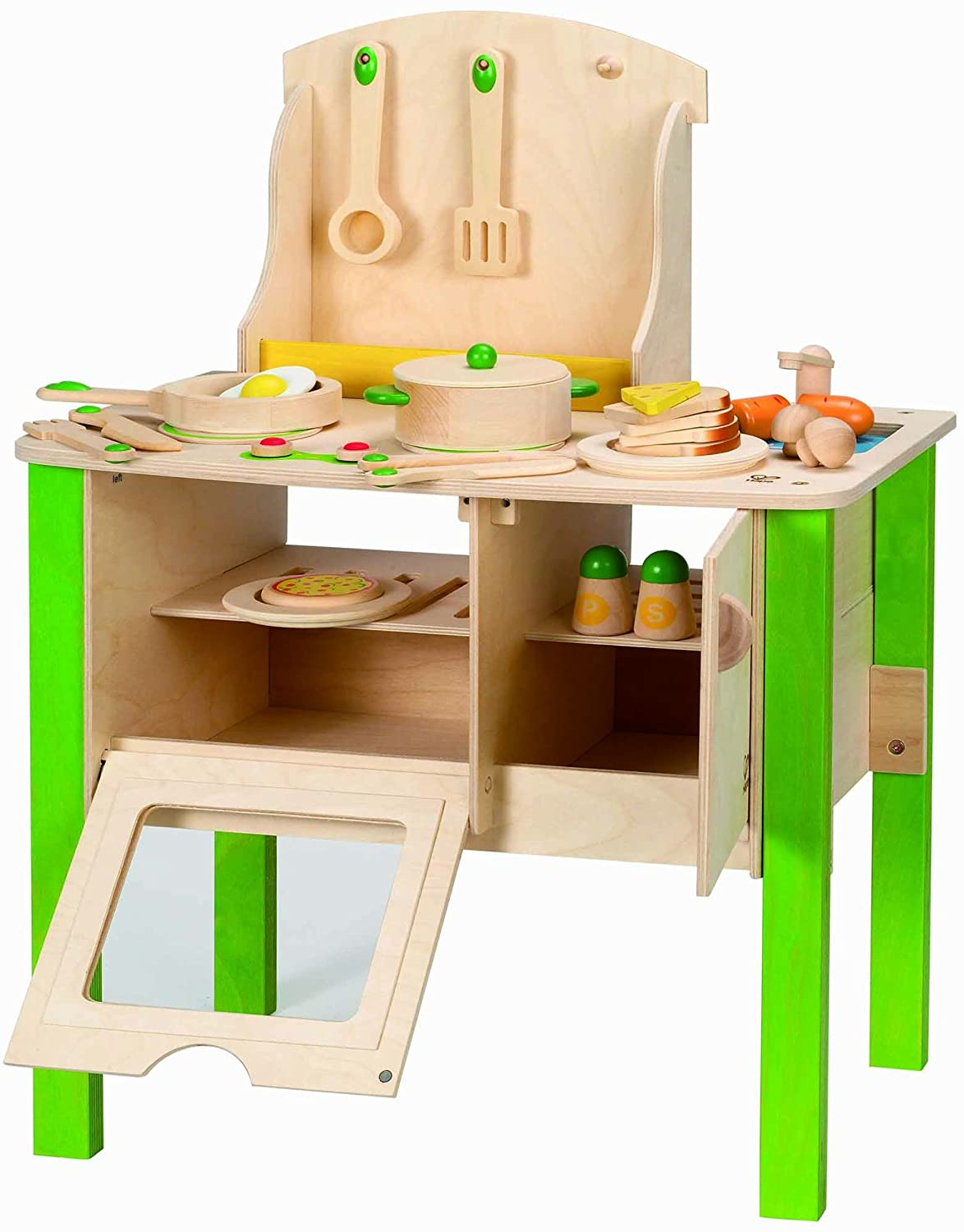 Play Kitchen Amazoncom Hape My Creative Cookery Club Kids Wooden Play