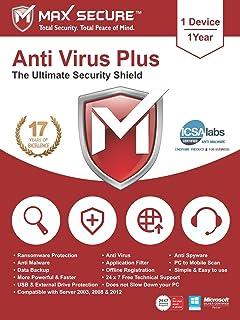 McAfee Anti-Virus - 1 PC, 1 Year (Activation Key Card