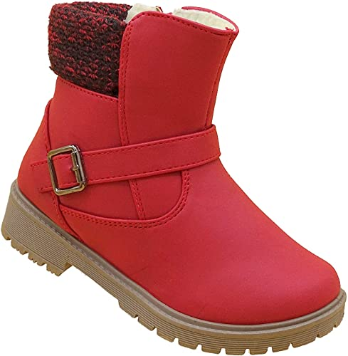the latest 88c24 ad9fe Mädchen Boots Kinder Winter Stiefel Warmfutter Schuhe Gr.31-36  Art.-Nr.20705 rot