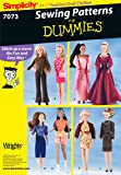 Simplicity Sewing Pattern 7073 Doll Clothes, One Size