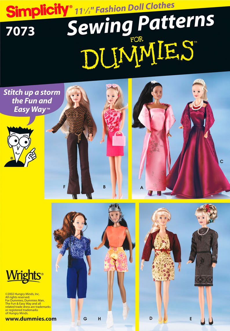 Simplicity Sewing Pattern 7073 One Size Doll Clothes