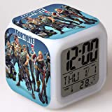 Fortnite Digital Alarm Clock USB Charger LED Illuminate Alarm Clocks Bedrooms Dimmer LCD Screen