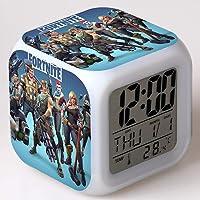 Fortnite Digital Alarm Clock USB Charger LED Illuminate Alarm Clocks Bedrooms Dimmer LCD Screen