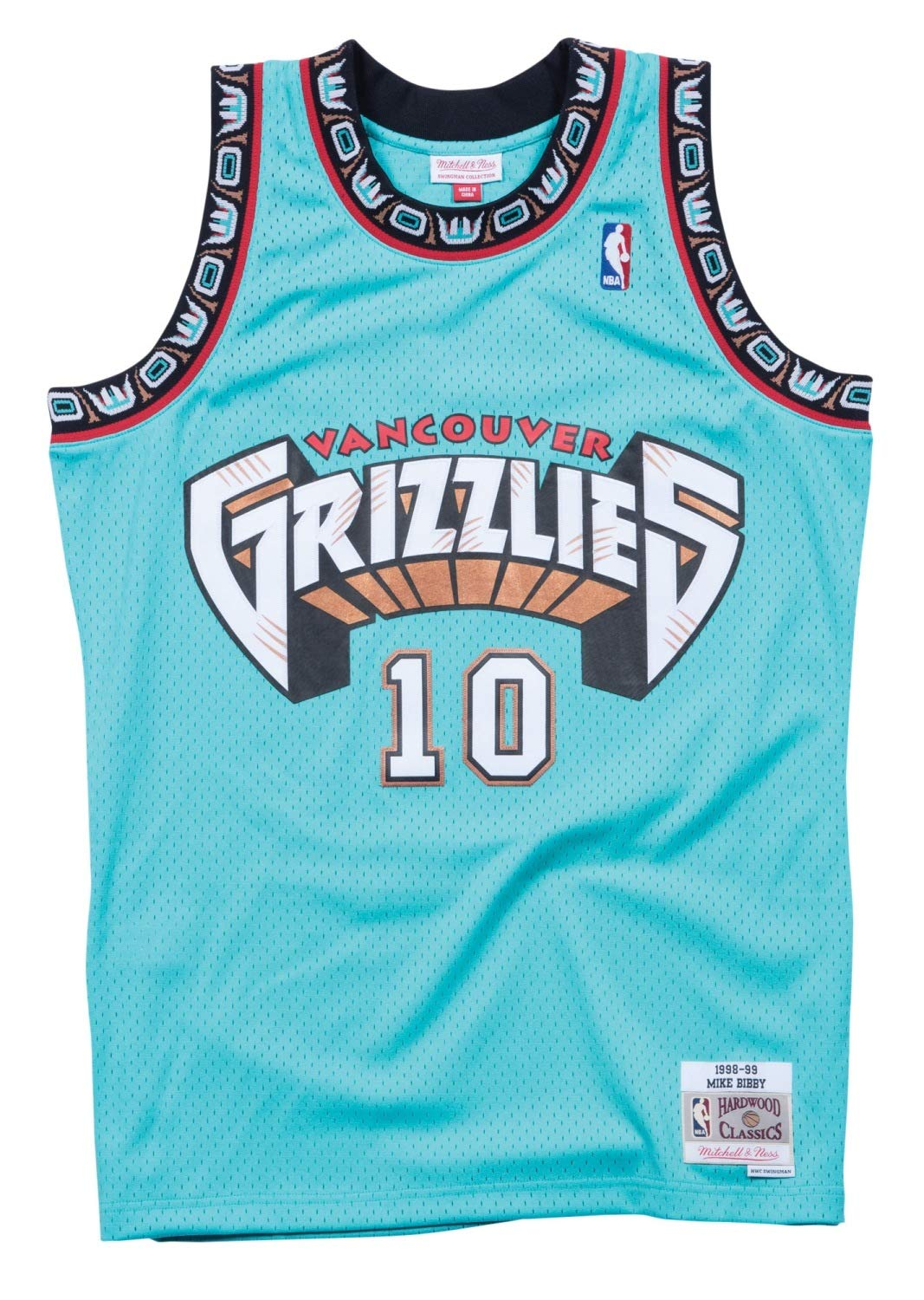 huge selection of 588ea e2d48 Mitchell & Ness Mike Bibby Vancouver Grizzlies NBA Throwback Jersey Teal