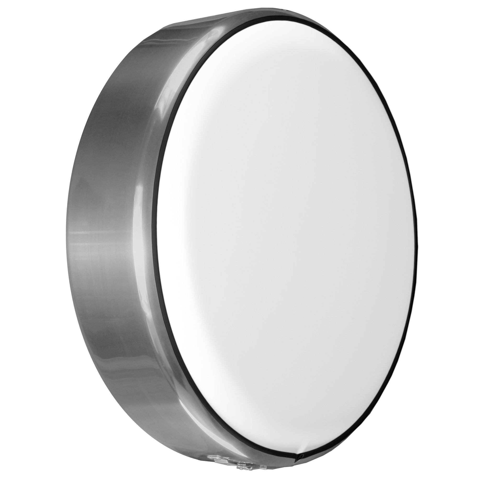 MasterSeries - Continental Tire Cover Kit (215/85R16 ) - (Molded Plastic Face & Polished Stainless Ring) - White Dish