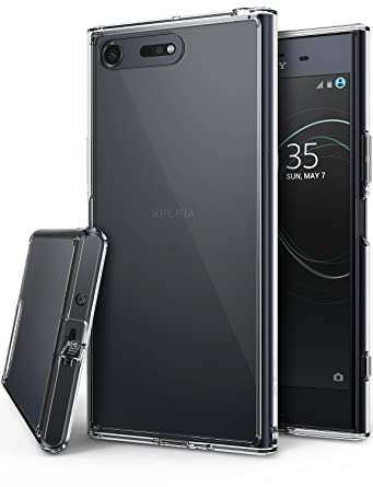 Ringke Fusion Compatible with Sony Xperia XZ Premium Case, Crystal Clear PC Back TPU Bumper Drop Protection Shock Absorption Technology Raised Bezels ...
