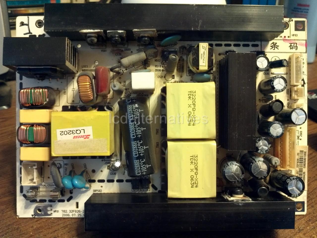 Repair Kit, Insignia NS-32LCD, LCD TV, Capacitors, Not the Entire Board
