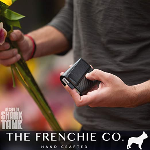 The Frenchie Co. Carbon Fiber Ultra Slim Speed Wallet for Men with RFID Blocking and Super Fast Card Holder Access | 6 Cards at Amazon Mens Clothing store:
