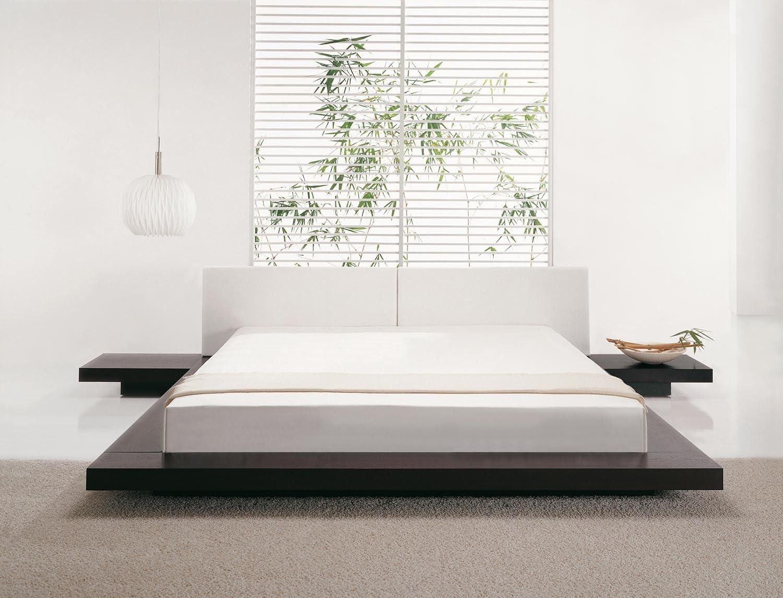 Designer Madera Maciza cama Japón Estilo Plano cama para ...