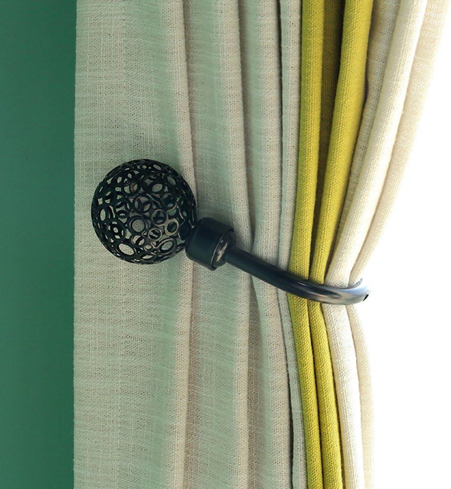 Ganchos pared cortina huecos en forma U, clip de cortina estilo retro, soportes corbata cortina bola montados en la pared Percha pared retención metal, paraclips cortina sombrero abrigo decoración