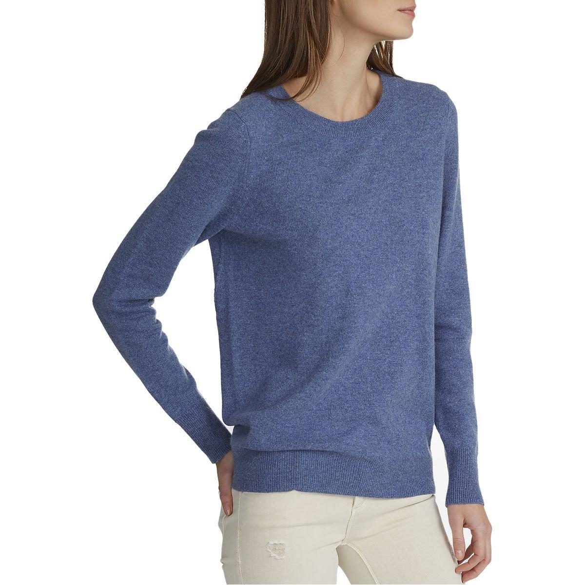 White + Warren Essential Crewneck Sweater - Women's Indigo Heather, S by White + Warren (Image #1)