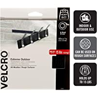 """VELCRO Brand - Extreme Outdoor - All Weather/Rough Surfaces - 1"""" Wide Tape, 10', Black"""