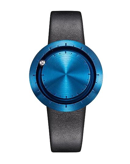 Especiales – Reloj de pulsera Lavaro Abacus Azul – Fabricado en Alemania, cepillado caja de
