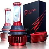 LIGHTENING DARK 9007 LED Headlight Bulbs Conversion Kit (Hi/Low), CREE XPL 6K Cool White,7200 Lumen - 3 Yr Warranty
