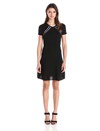 Amazon.com: Shoshanna Women's Techo Mesh Bellamy Knit Dress: Clothing