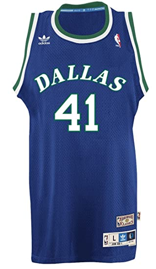 ca2add86706 Dirk Nowitzki Dallas Mavericks Adidas NBA Throwback Swingman Jersey - Blue