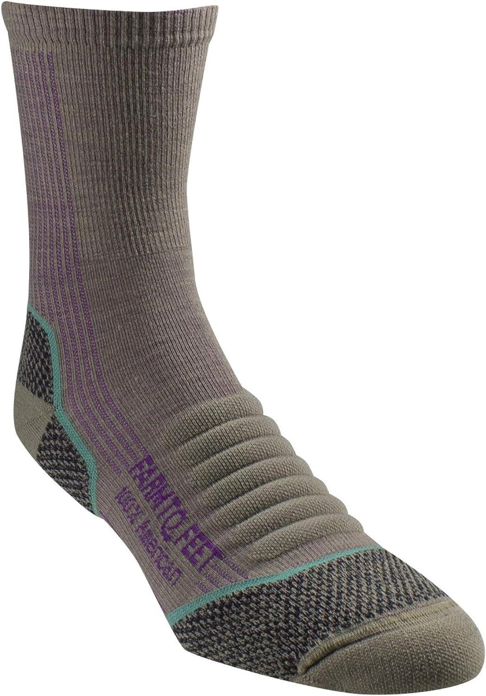 Farm to Feet Damascus Lightweight Merino Wool 3//4 Technical Hike Crew Socks Merino Wool Socks