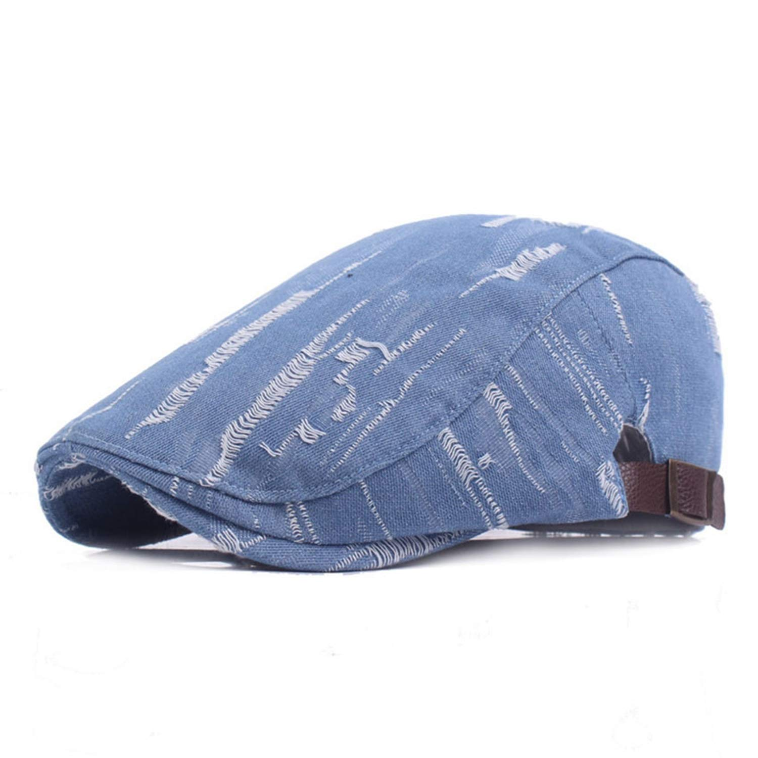 Denim Ivy Caps for Men Women British Ripped Jeans Flat Cap Berets Spring Autumn Vintage Fashion Hats and Caps