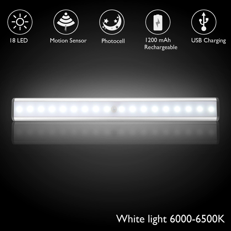 Y-LOVE Schranklicht,18 LED Wandlicht Bewegungsmelder mit Sensor,USB ...